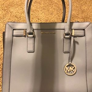 Michael Kors Lg Dillon Satchel Pale Blue